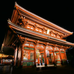 Sensoh-ji Temple Night photo tour Ron Rosenstock