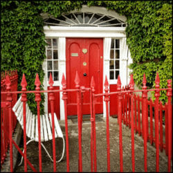 Westport Ireland photo tour Karen Schulman red door